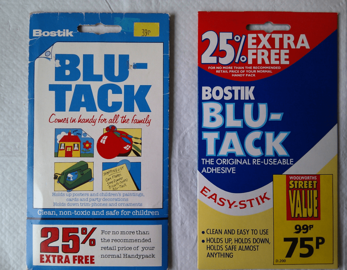 Como Quitar Blu Tack de la Pared